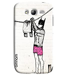 Omnam Batman In Pink Underwear Hanging Clothes Printed Designer Back Cover Case For Samsung Galaxy Grand i9082