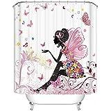 Moderna cortina para ducha Cortina impermeable del cuarto de baño 180*180cm, la chica