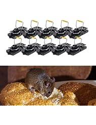 Gardigo Mausefalle 10er Set, Schlagmausefalle, Schlagfalle, Mäuse Falle