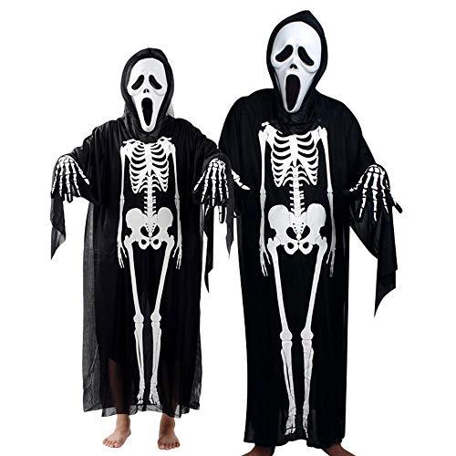 (serliy Frauen Männer Halloween Cosplay Kostüm Umhang + Maske + Handschuhe Familie Outfits Set Persönlichkeit Ski Radfahren Snowboard Schal Halswärmer Gesichtsmaske Balaclava Bandana)