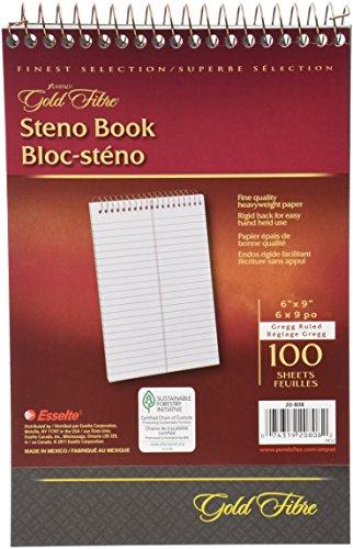 gold-fibre-spiral-steno-book-gregg-rule-6-x-9-white-by-100-sheets-pad