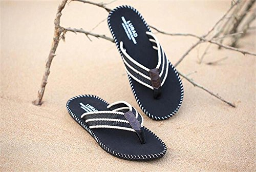 ALUK- Sandales d'été - Hommes Pieds Wear Wear Trend Simple Beach Cool Chaussons ( Couleur : Noir , taille : 39 ) Noir