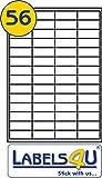 56Etiketten pro Blatt x 50Blatt, weiß blanko Multi-Funktion selbstklebend A4Adresse Adressierung Versand Aufkleber, bedruckbar mit Kopierer, Laser- oder Tintenstrahldrucker, 50mm x 20mm–ein Labels4U Markenprodukt