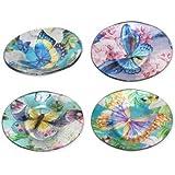 Sigris - Plato x4 Colores Cristal 14 cm