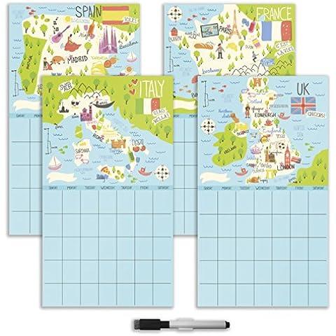 Wallpops-Calendario Bon Voyage-4 - Dry Erase Calendario