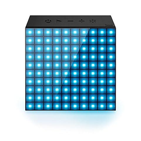 AuraBox Divoom Personalisierbarer Bluetooth Lautsprecher mit animiertem LED Display, Freisprecheinrichtung, Wecker, Benachrichtigungssystem und Temperatur Anzeige für (Kreative Ipod Speaker)