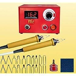 Outil de gravure au bois, Jian Ya Na 220V 50W Écran numérique Pyrographie Kit multifonction pour stylo Set de machine Outil artisanal en bois de gourde