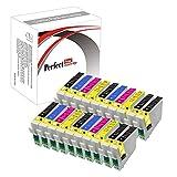 PerfectPrint - 20 cartuchos de tinta compatibles (4 juegos y 4 negras) para Epson Stylus D68 D88 DX3800 DX3850 DX4200 DX4800 DX4850 (8x T0611, 4x T0612 , 4x T0613, 4x T0614)