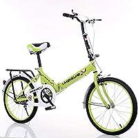 LETFF Bicicleta Plegable para Adultos 20 Pulgadas Bicicleta de Amortiguador de Velocidad del Estudiante de los