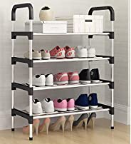 Eesyy 5-Tier Metal Freestanding Shoe Rack, Portable shoe cabinet, Shoe Storage Organizer for Entryway, Cloakro