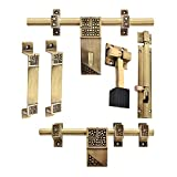 Klaxon Glorious Brass Door Accessories Kit (Antique Finish, 6-Pieces)