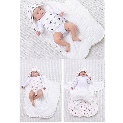 Wickeltuch aus Musselin anti-startle Baby Schlafsack Herbst Winter Wohnmantel Decke Sack