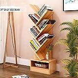 Baum-form Bücherregal, Grosser raum Buch lagerung, Kabinett buch organizer Einfach zu montieren Buch-display-ständer Rack halterung unterstützung Home Office-Walnuss 37x21.2x122.3cm(15x8x48inch)