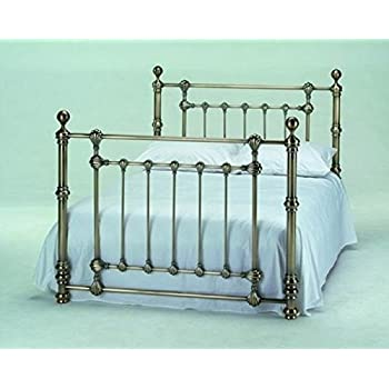 victoria 5ft king size traditional antique brass bed by harmony beds - Brass Bed Frames