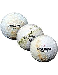 PearlGolf 100 Marken Mix Crossgolfbälle - X-Out zum Verschlagen - Lakeballs - gebrauchte Golfbälle