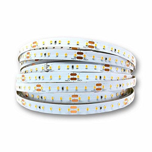 alupona LED Streifen 9.6W/m 24V 140leds/m warmweiß IP20 Stripe Band Lichterkette Stripes Strip Farbe 1 Meter (100cm)