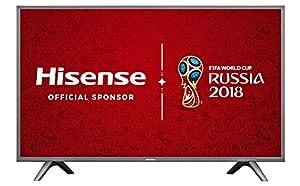 Hisense H55N5700UK 55-Inch 4K UHD Smart TV - Grey (2017 Model), (Certified Refurbished)
