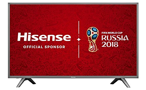 Hisense H43N5700UK 43-Inch 4K UHD Smart TV - Grey (2017 Model), (Certified Refurbished)