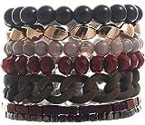 Breites Armband für Damen mit Verschiedenen Anhängern und Perlen - Damen Armband Breit
