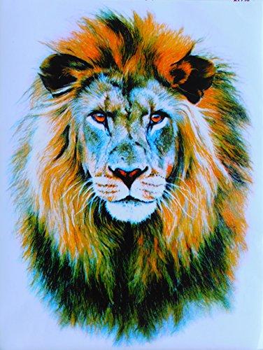 Löwe König der Tiere Lion Gross Sticker Aufkleber Folie 1 Blatt 340 mm x 260 mm wetterfest -