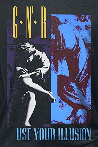 Guns N' Roses Illusion Split Manica Lunga Donna Nero Nero