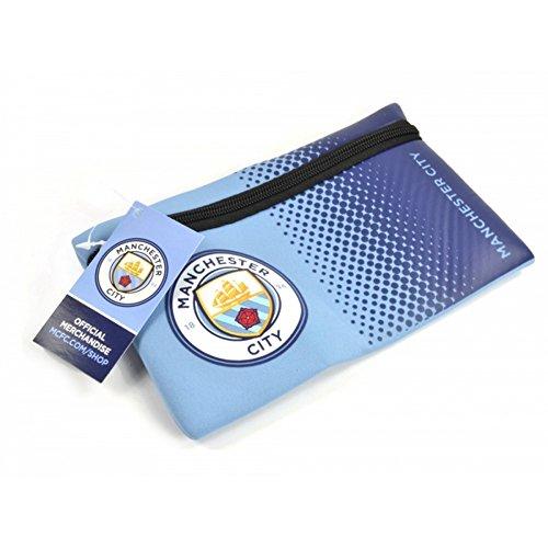 Manchester City FC Official Football Fade Design Pencil Case  One Size   Light Blue Blue