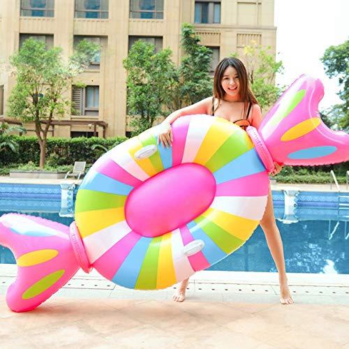 ZXCVBW 210cm Riesen Aufblasbare Lollipop Pool Float Lie-On Candy Schwimmring Für Erwachsene Kinder Wasser Party Spaß Spielzeug Luftmatratze boia (Lollipop Riesen Dekorationen)