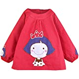 Happy Cherry Impermeable Infantil Blusón de Dibujos Animados Delantal Babero de Mangas Larga Protección de Ropa para Bebés Niños Niñas Varios Colores 3 Tallas a Elegir