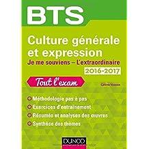 BTS Culture générale et Expression 2016/2017 - Je me souviens, L'extraordinaire