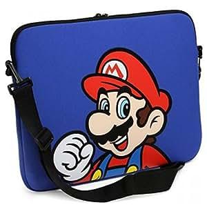 Sacoche 'Super Mario Bros' - Ordinateur Mario - Bleu