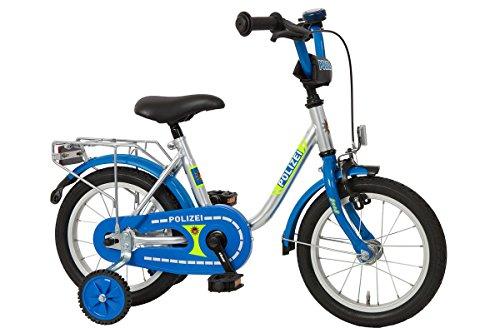 Bachtenkirch Kinderfahrrad 14'' Polizei Silber-blau - Fahrrad-polizei