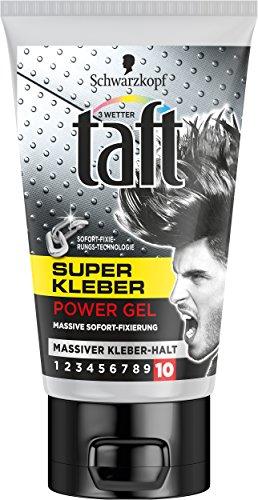 Schwarzkopf 3 Wetter Taft Super Kleber Gel, massiver Kleber Halt, 5er Pack (5 x 150 ml) (Gel 10% Gel)