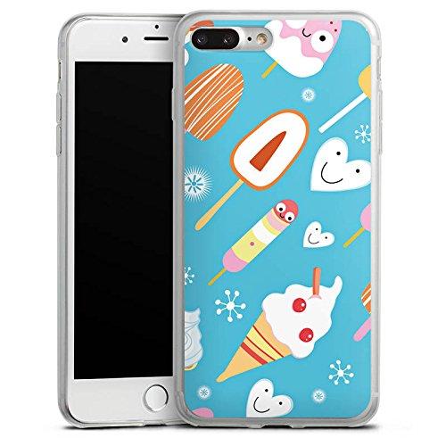 Apple iPhone 8 Slim Case Silikon Hülle Schutzhülle Ice Cream Süßigkeiten Eis Silikon Slim Case transparent