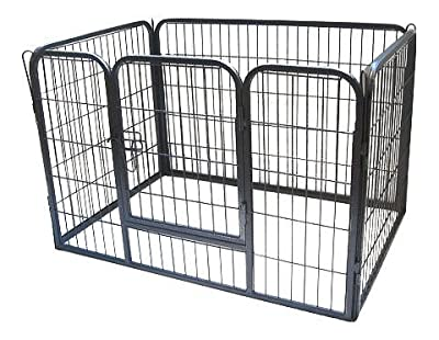 Bunny Business Heavy Duty Puppy Play Pen/ Rabbit Enclosure, Gunmetal Grey - PARENT