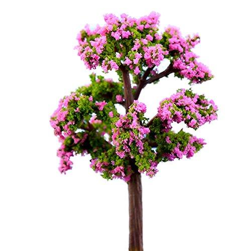 Milopon 2x Mini Gartendeko Micro Landschaft Deko Miniatur Pflanzen aus Harz für Puppenhaus Puppenhausmöbel Gartenmöbel Deko Garten 15*9.5*4cm