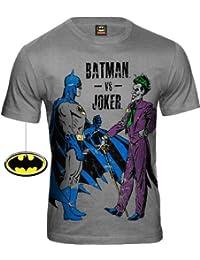 ORIGINAL BATMAN Retro Comic Herren T-Shirt BATMAN VS JOKER Codi Sportsgrey Gr. S