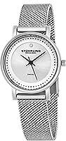 Stührling Original 734LM.01 - Reloj analógico para mujer, correa de acero inoxidable, color plateado de Stuhrling Original