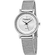 Stührling Original 734LM.01 - Reloj analógico para mujer, correa de acero inoxidable,