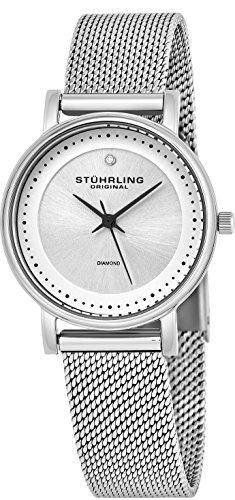 Stührling Original 734LM.01 - Reloj analógico para mujer, correa de acero inoxidable, color plateado