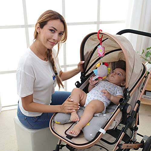 Baby Crib Stroller Playing Hanging Rattle Toy Car Hanging Pushchair Pram Toys With Animal Style Soft And Comfortable Cute And Relieve Your Baby's Emotions 3 Pcs,Bee、Rabbit、Owl