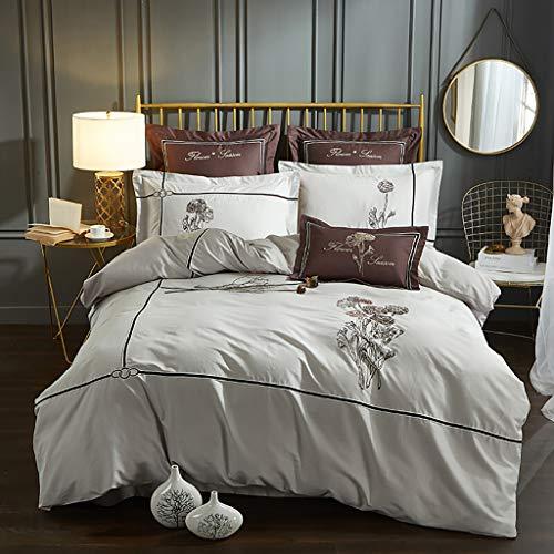 NUBAO Bettwäsche, Doppelbett, Bettwäsche Premium Bambus Blätter,  Luxuriös Weich Und Komfortabel 4  100% Bambusviskose Geeignet Für 180-200cm Doppelbett Königin -