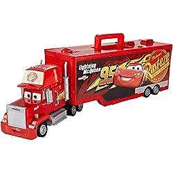 Disney Pixar Cars Véhicule Camion Transporteur Mack Rouge, Coffret de Jeu pour Transporter Jusqu'à 16 Voitures, Jouet pour Enfant, Fpp57