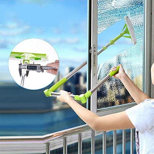 NBLYW Kit di Pulizia per vetri telescopici con tergipavimento e Asta di prolunga in Alluminio a 3 sezioni, sportelli per sportello Parabrezza per Auto - Attrezzature per Lavaggio