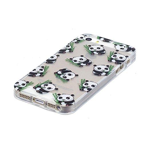 Ooboom® iPhone 6S/6 Coque Transparent TPU Silicone Gel Housse Étui Protecteur Cover Case Souple Ultra Mince pour iPhone 6S/6 - Phoque Panda