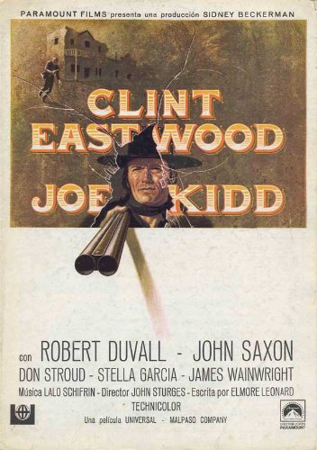 Joe Kidd poster Movie Spanish 11 x 17 pollici - 28 cm x 44 cm Clint Eastwood Robert Duvall John Saxon Don Stroud stella Garcia James Wainwright