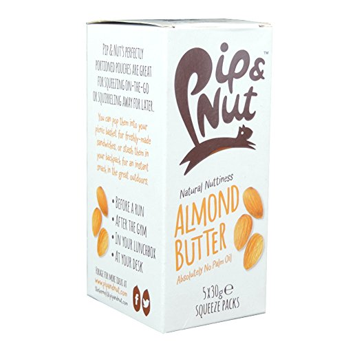 Pip & Nut - Almond Butter Squeeze Packs - 5x30g (Case of 5) - Squeeze-pack