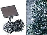 Lunartec LED Lichterketten aussen: Solar-LED-Lichterkette, 500 LEDs, Dämmerungssensor, weiß, 50 m, IP44 (Außenlichterkette)
