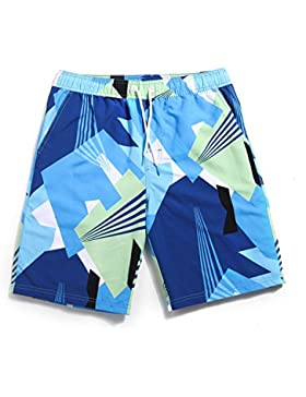 HAIYOUVK Male And Female Couples Beach Pants Quick-Drying Large Yard Loose Casual Shorts Print Mixed Colors Flower...