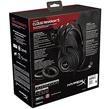 Hyperx Hx-hscrs-gmem Cloud Revolver S Dolby Surround 7.1 Gaming Headset, Gun Metal 9