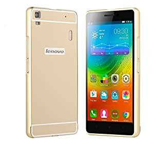 Kapa Acrylic Back + Metal Bumper Case Cover for Lenovo K3 Note / A7000 - Gold
